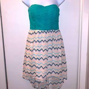 ASYMMETRICAL STRAPLESS DRESS
